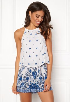 BUBBLEROOM Melinda playsuit Blue / White / Patterned Bubbleroom.se