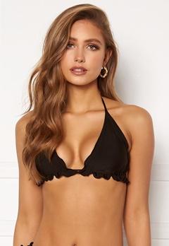 BUBBLEROOM Melissa ruffled bikini top Black Bubbleroom.se