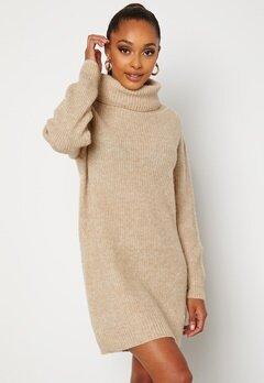 BUBBLEROOM Melissi knitted sweater dress Beige bubbleroom.se
