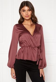 BUBBLEROOM Mereen wrap blouse Old rose Bubbleroom.se