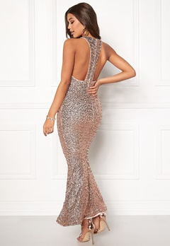 BUBBLEROOM Mermaid sequins dress Rose gold Bubbleroom.fi