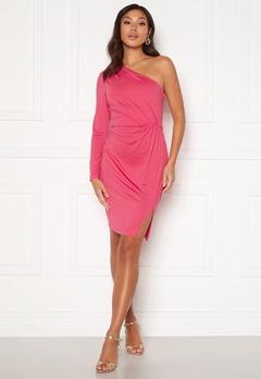 BUBBLEROOM Meryam one shoulder dress Pink Bubbleroom.se