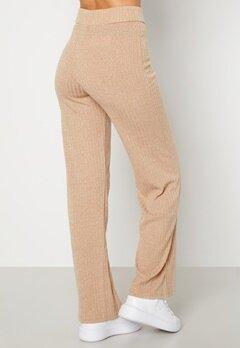 BUBBLEROOM Miley knitted trousers Beige Bubbleroom.se