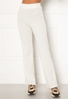 BUBBLEROOM Miley knitted trousers White Bubbleroom.se