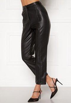 BUBBLEROOM Mina PU trousers Black Bubbleroom.se