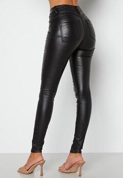 BUBBLEROOM Miranda Push-up coated jeans Black bubbleroom.se