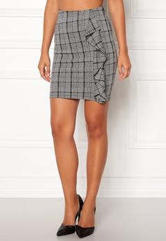 BUBBLEROOM Mirella frill skirt Grey / White / Black / Print Bubbleroom.se