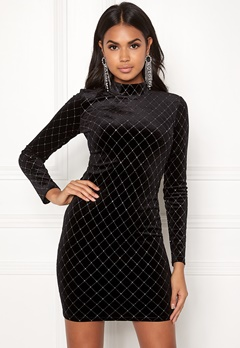 BUBBLEROOM Mirella sparkling dress Black / Silver Bubbleroom.se