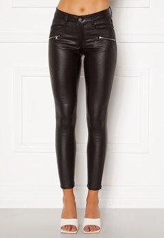 BUBBLEROOM Moa coated jeans Black Bubbleroom.se
