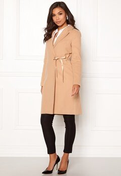 BUBBLEROOM Molly classic coat Camel Bubbleroom.se
