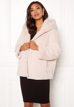 BUBBLEROOM Molly faux fur jacket Beige Bubbleroom.se