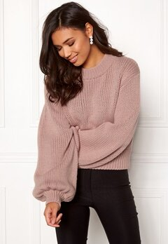 BUBBLEROOM Molly knitted sweater Dusty pink Bubbleroom.se
