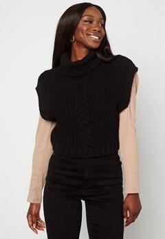 BUBBLEROOM Nanja knitted vest Black bubbleroom.se