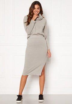 BUBBLEROOM Nelima knitted skirt Grey Bubbleroom.se