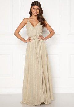 BUBBLEROOM Nionne sparkling chiffon prom dress Gold-coloured / Champagne bubbleroom.se