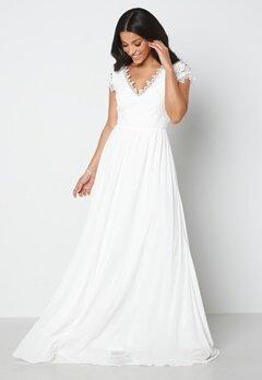 Bubbleroom Occasion Amelia Wedding Gown White bubbleroom.se