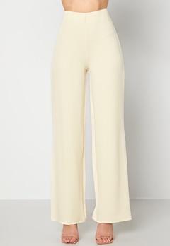 BUBBLEROOM Petronella trousers Light beige Bubbleroom.se