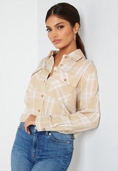 BUBBLEROOM Pie flannel shirt Beige / White / Checked bubbleroom.se