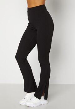 BUBBLEROOM Roselyn suit slit pants Black bubbleroom.se
