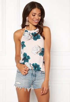 BUBBLEROOM Ruthie high neck top Pink / Floral Bubbleroom.se