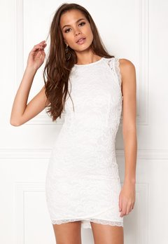 BUBBLEROOM Salma Lace Dress White Bubbleroom.se