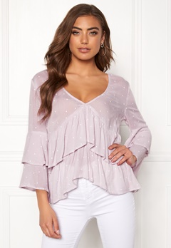 a610185d7f6a BUBBLEROOM Samantha dotted blouse Lavender / White / Dotted Bubbleroom.se