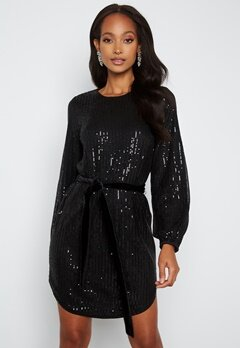 BUBBLEROOM Sanja sparkling dress Black bubbleroom.se