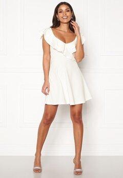 BUBBLEROOM Sanna flounce dress White Bubbleroom.se