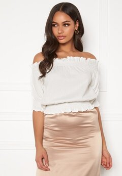 BUBBLEROOM Sanna off shoulder top White Bubbleroom.se