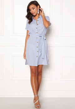 BUBBLEROOM Sara shirt dress Blue / White / Striped Bubbleroom.se