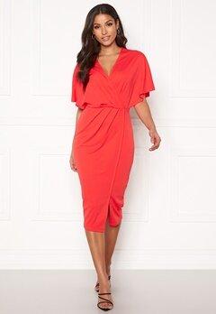BUBBLEROOM Selena dress Coral red bubbleroom.se