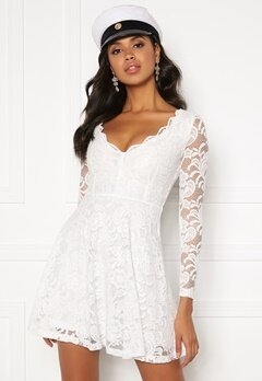 YAS Flora Strap Long Dress Vardagsklänning Star White