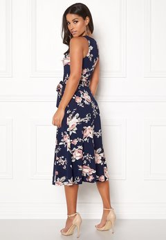 BUBBLEROOM Sibel dress Dark blue / Floral Bubbleroom.se