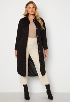 BUBBLEROOM Sofie Shirt Coat Shacket Black Bubbleroom.se