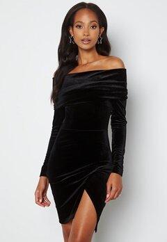 BUBBLEROOM Sofielle Velvet Dress Black bubbleroom.se