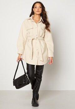 BUBBLEROOM Sonya Shirt Jacket   Light beige Bubbleroom.se