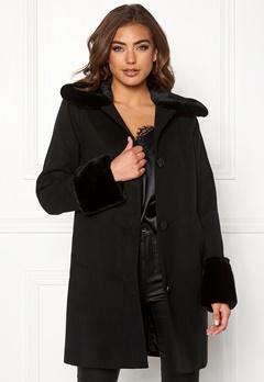 BUBBLEROOM Sophia coat Black Bubbleroom.se