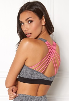 BUBBLEROOM SPORT Athletic Soft Bra Grey melange / Pink Bubbleroom.eu