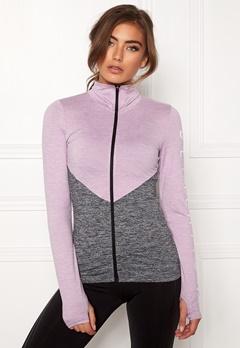 BUBBLEROOM SPORT Burpees then slurpees sport jacket Grey melange / Lilac melange Bubbleroom.se