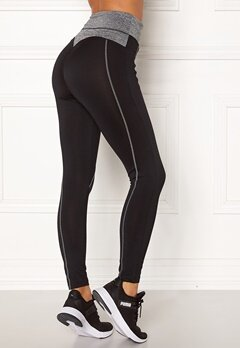 BUBBLEROOM SPORT Butt sport tights Black / Grey melange Bubbleroom.se