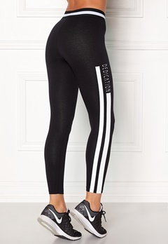 BUBBLEROOM SPORT Comfy sport tights Black / White / Text Bubbleroom.se