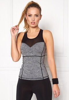 BUBBLEROOM SPORT Courage sport top Dark grey melange Bubbleroom.eu