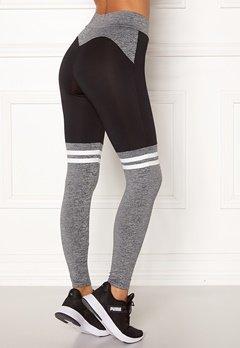 BUBBLEROOM SPORT Excite sport tights Grey melange / Black Bubbleroom.se