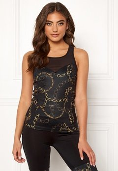 BUBBLEROOM SPORT Excite sport top Black / Patterned Bubbleroom.se