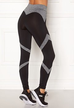 BUBBLEROOM SPORT Fierce sport tights Black / Grey melange Bubbleroom.se