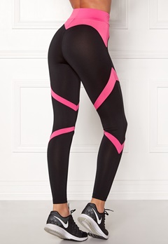 BUBBLEROOM SPORT Fierce Sport Tights Black / Pink Bubbleroom.se
