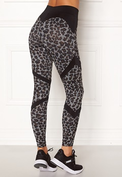 BUBBLEROOM SPORT Fierce sport tights Leopard / Black Bubbleroom.se