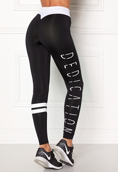 BUBBLEROOM SPORT Move it sport tights Black / White / Text Bubbleroom.se