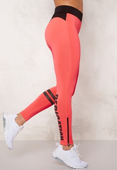 BUBBLEROOM SPORT Shape train tights Black / Text Bubbleroom.eu