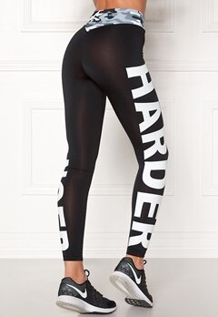 BUBBLEROOM SPORT Shout it sport tights Black / White / Text Bubbleroom.eu